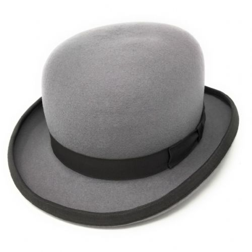 86379417eba Grey Bowler Hat - Wool Felt
